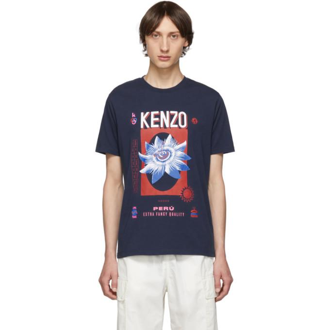 Kenzo Navy Bamboo Rice T-Shirt
