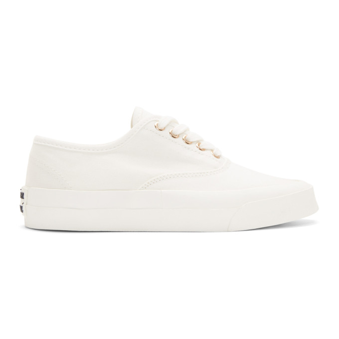 Maison Kitsune White Laced Sneaker