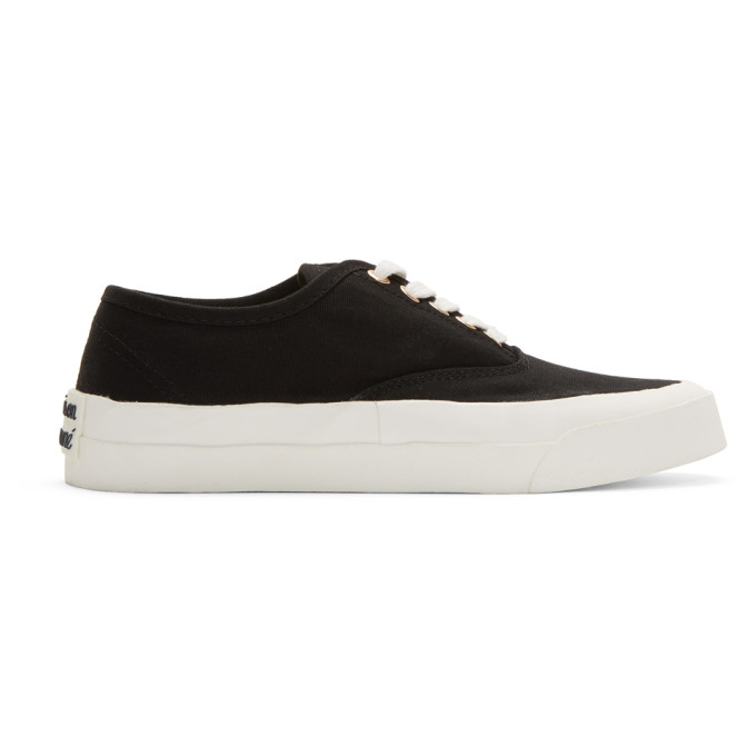Maison Kitsune Black Laced Sneakers