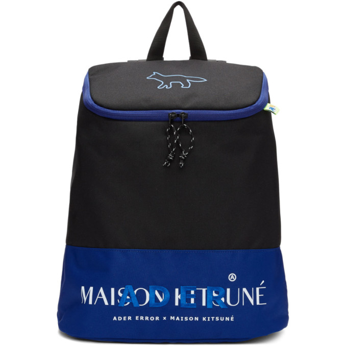 Maison Kitsune ADER error Edition ブラック レイアウト バックパック