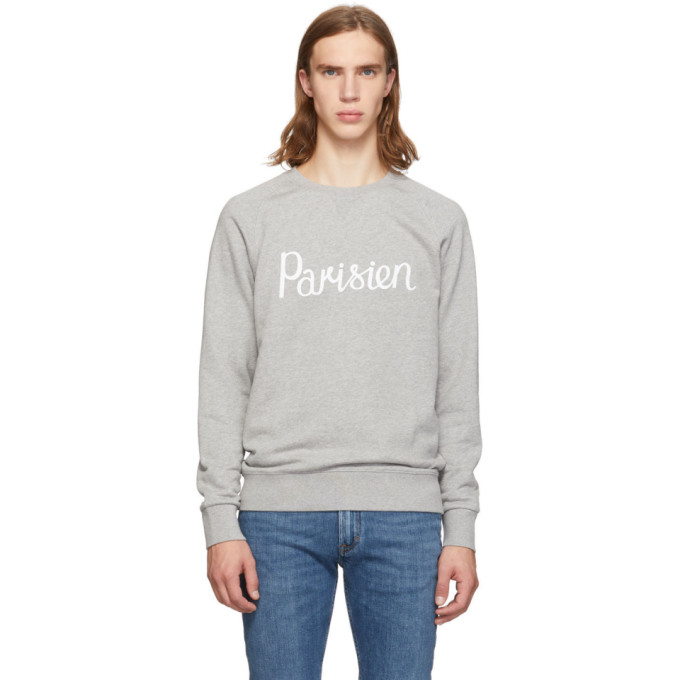 Maison Kitsune Grey Parisien Sweatshirt