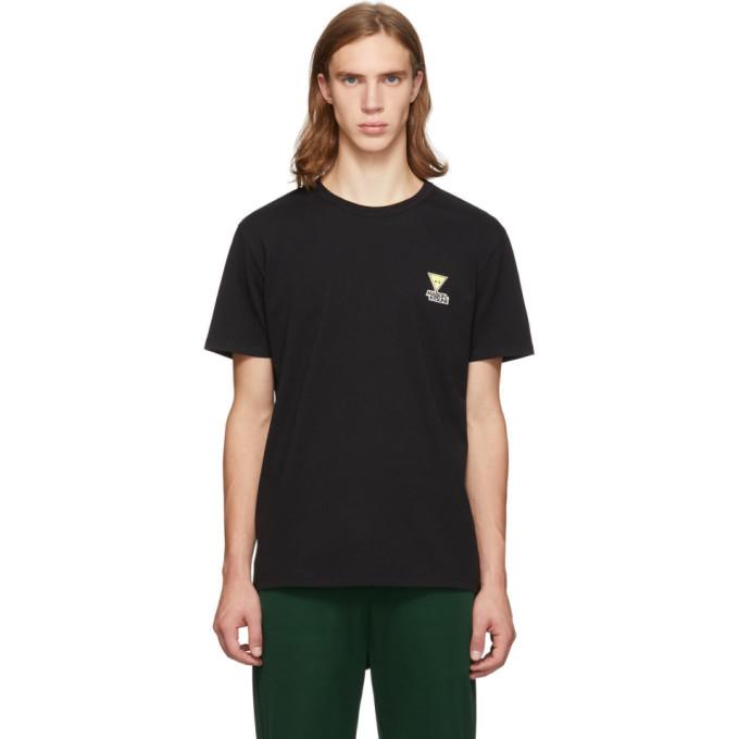 Maison Kitsune Black Smiley Fox T-Shirt