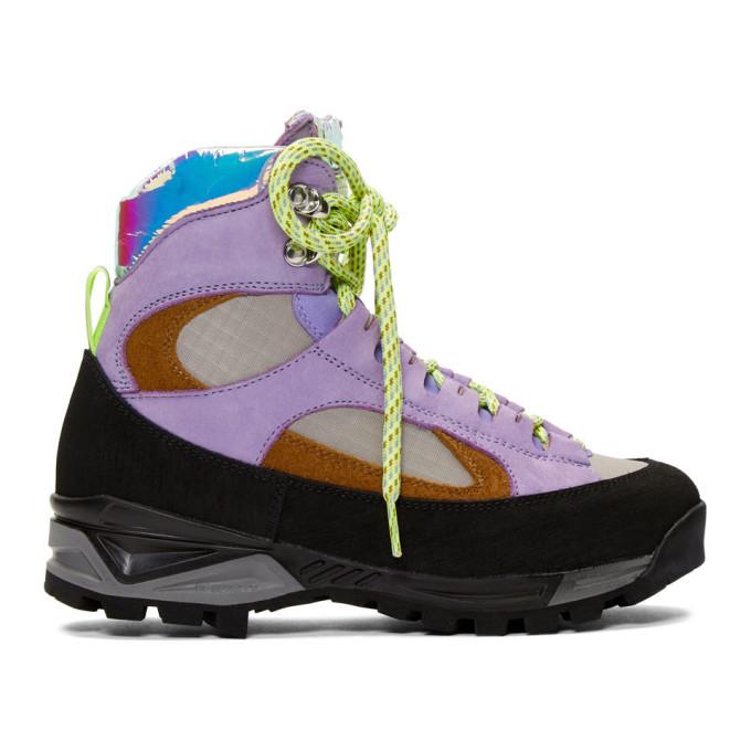 Diemme Purple and Tan Nubuck Civetta Boots