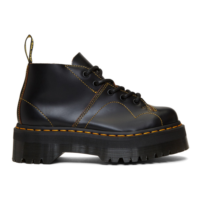 Dr. Martens Black Church Quad Boots