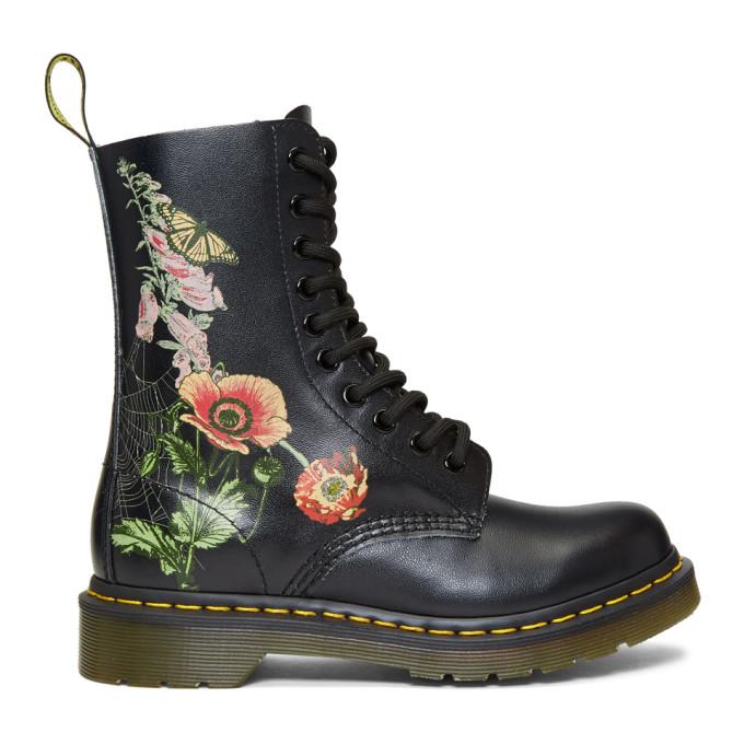 Dr. Martens Black 1490 Wild Botanics Boots
