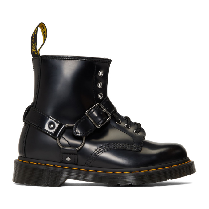 Dr. Martens Black 1460 Harness Boots  - buy with discount
