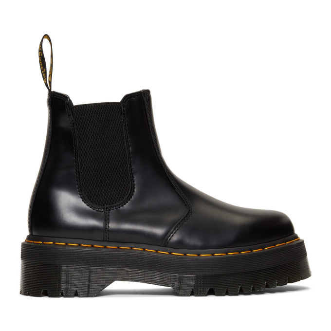 Dr. Martens Black 2976 Quad Chelsea Boots
