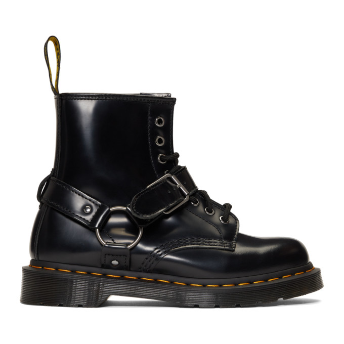 wholesale unique design official supplier Dr Martens Black 1460 Harness Lace Up Boots