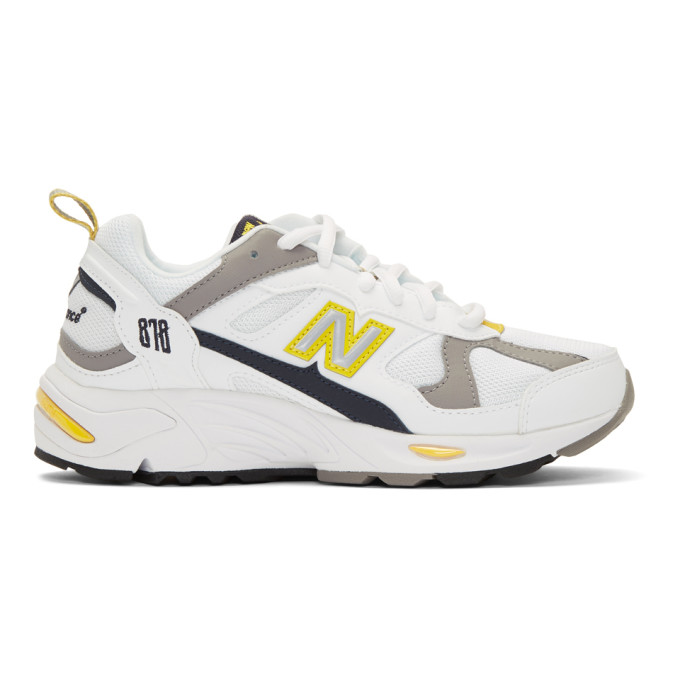 NEW BALANCE | New Balance White And Yellow 878 Sneakers | Goxip