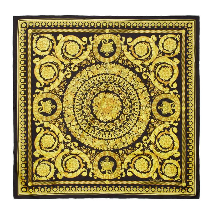 Versace Foulard noir Baroque