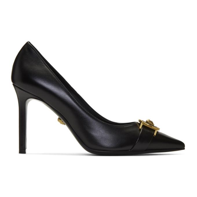 Versace Black Icon Heels