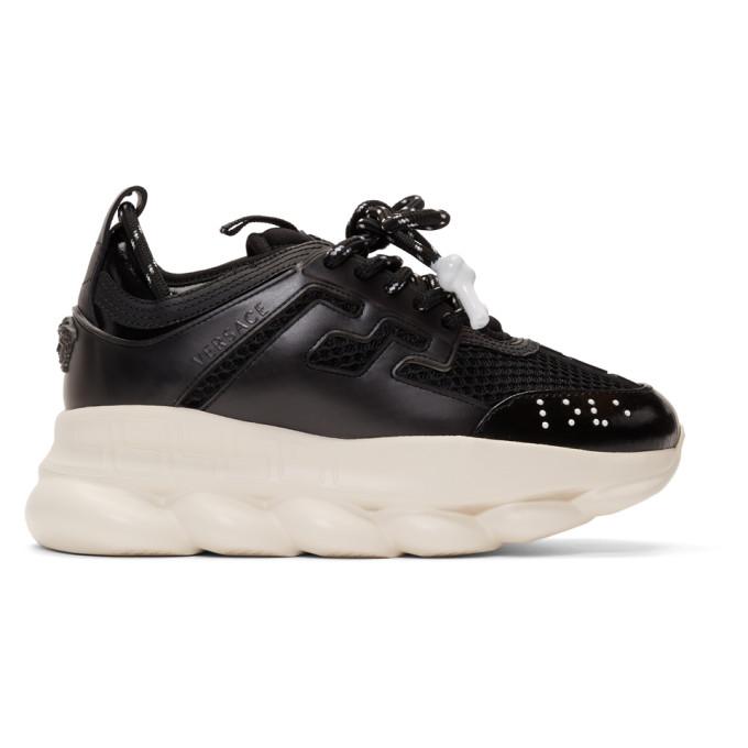Versace Black Chain Reaction Sneaker