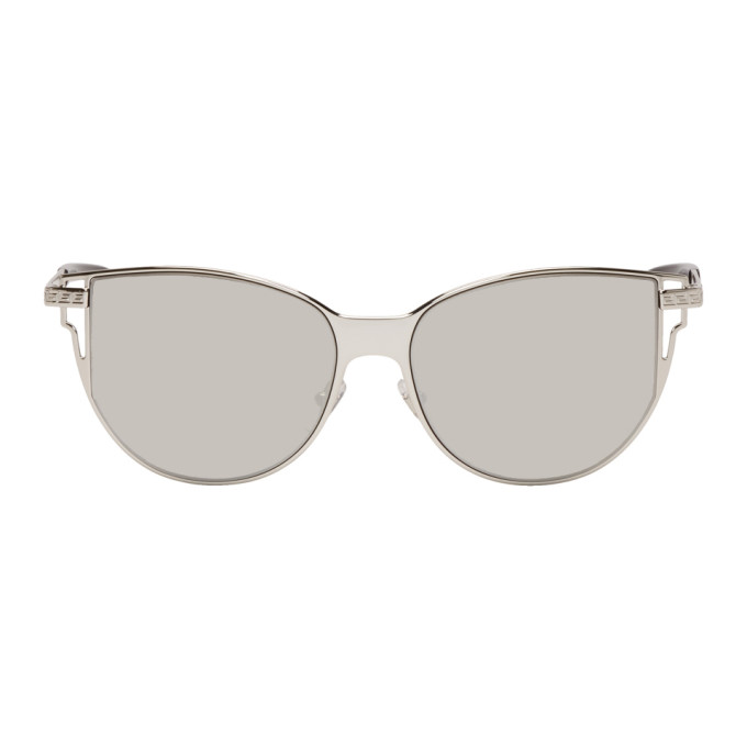 Versace Gunmetal Grecamania Pop Sunglasses