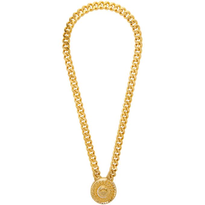 6280a0b75ea04 Versace Gold Crystal Medusa Necklace