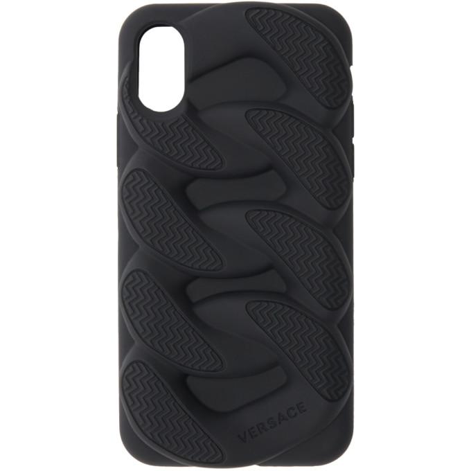 Versace Black Chain Reaction iPhone X Case