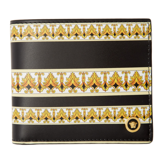 Versace Black and Gold Barocco Wallet