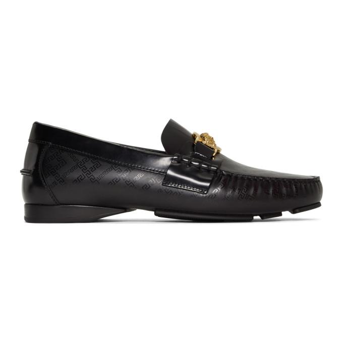Versace Black Medusa Driving Loafers