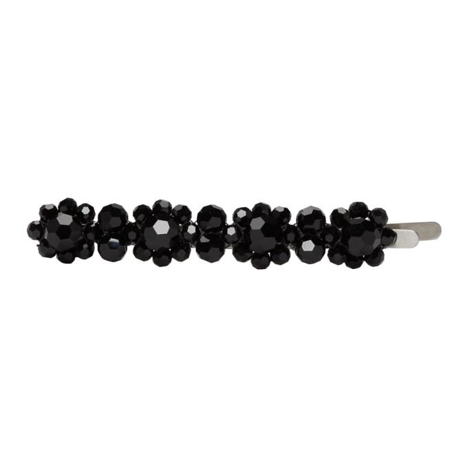 Simone Rocha Pince a cheveux noire Flower