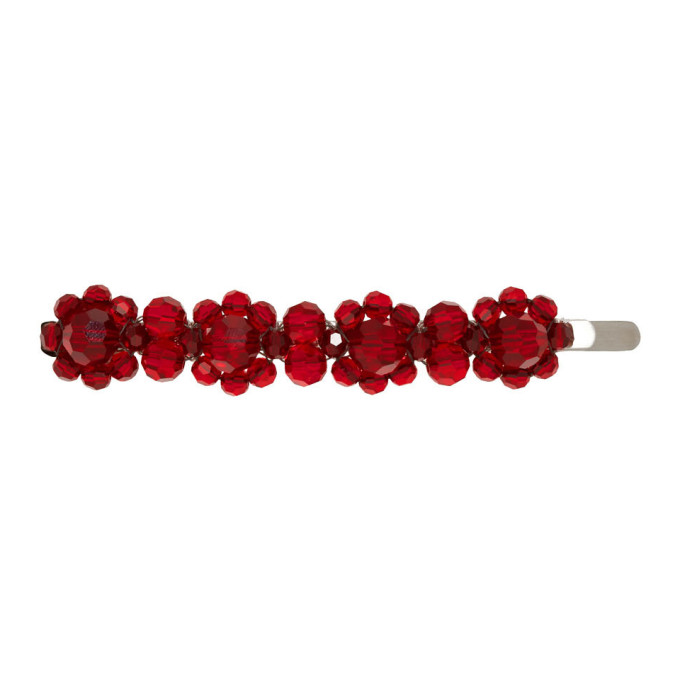 Simone Rocha Pince a cheveux rouge Crystal Flower