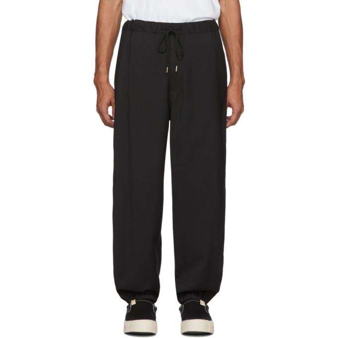 Sasquatchfabrix. Black Wool Ventilation Trousers