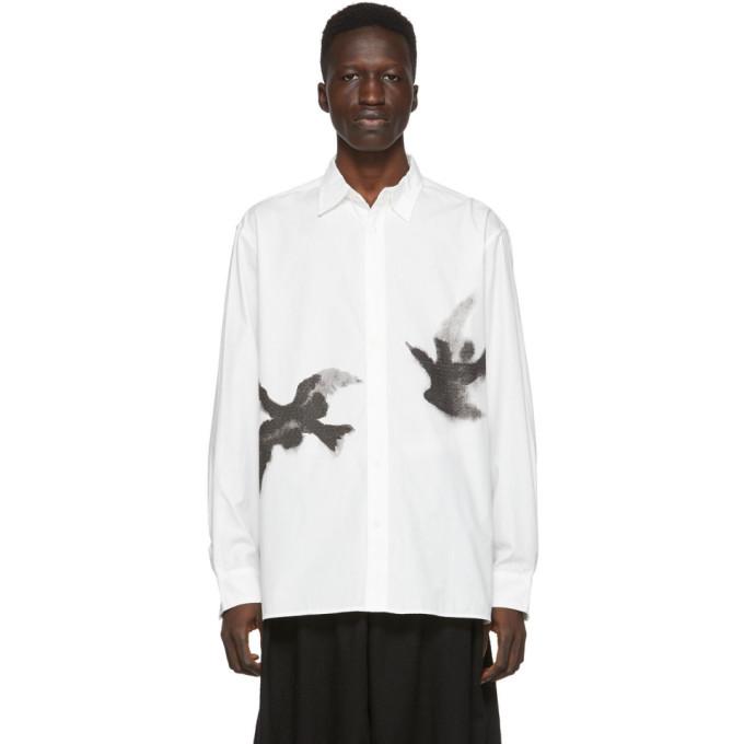Sasquatchfabrix. Chemise blanche Crow Print