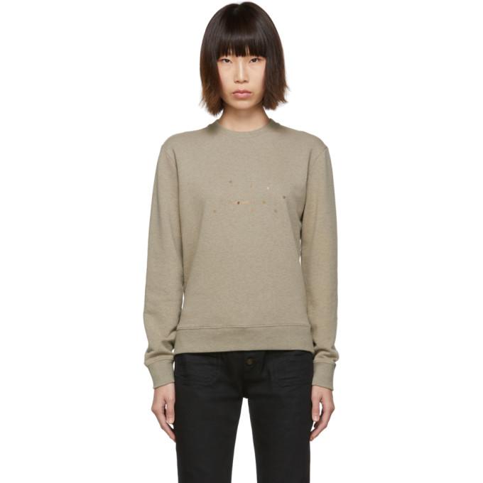 4088362f1f28a6 Saint Laurent Taupe Stars Sweatshirt In 1466 Taupe | ModeSens