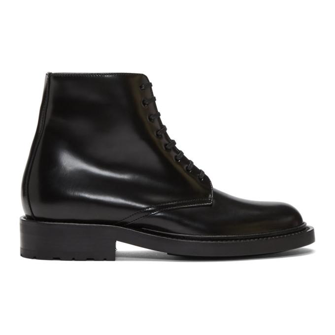 Saint Laurent Black Army Boot