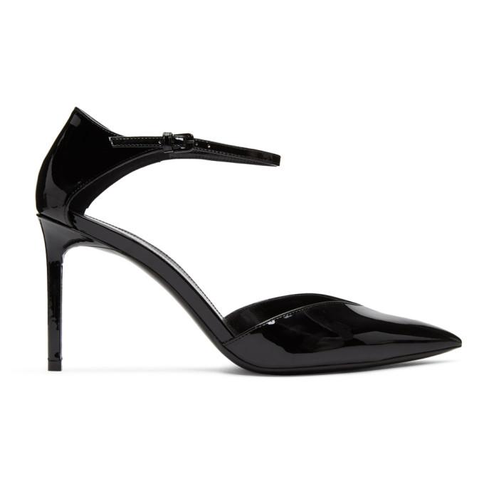 Saint Laurent Black Patent Anja DOrsay Heels