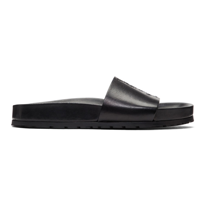 Saint Laurent Slippers Black Jimmy Slides
