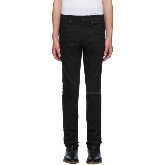 7ceff75c5e0 Saint Laurent Black Skinny Low Waist Jeans In 1080 Usdblk | ModeSens