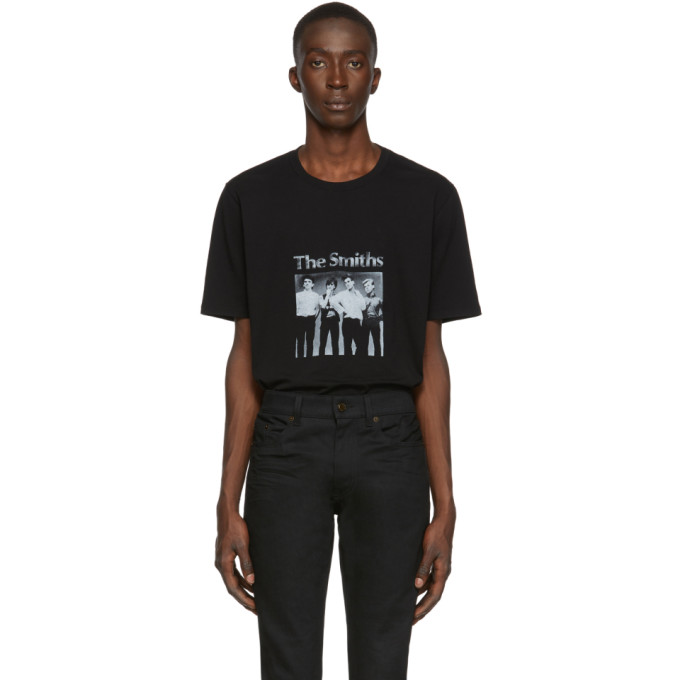 Saint Laurent T-shirts SAINT LAURENT BLACK THE SMITHS T-SHIRT