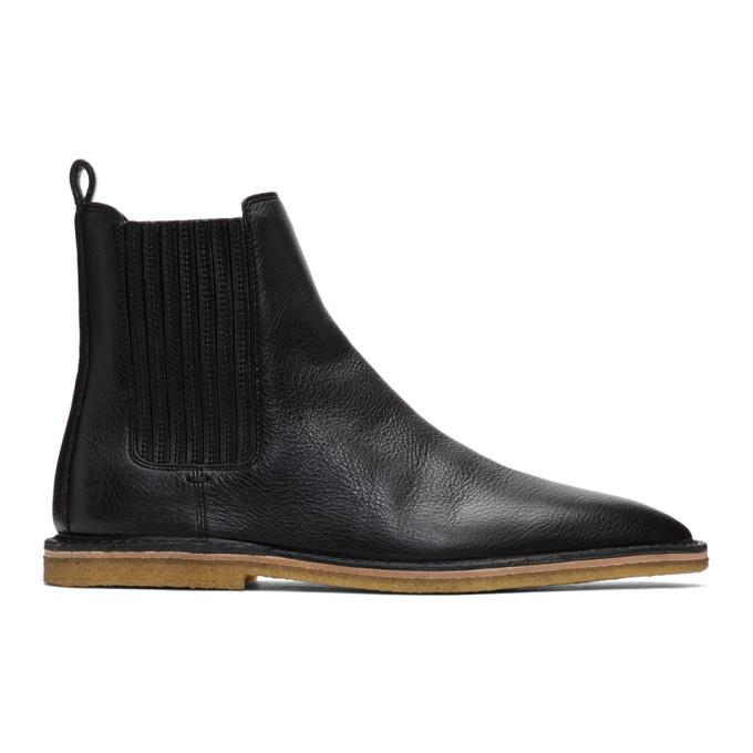 Saint Laurent Black Nino Chelsea Boots