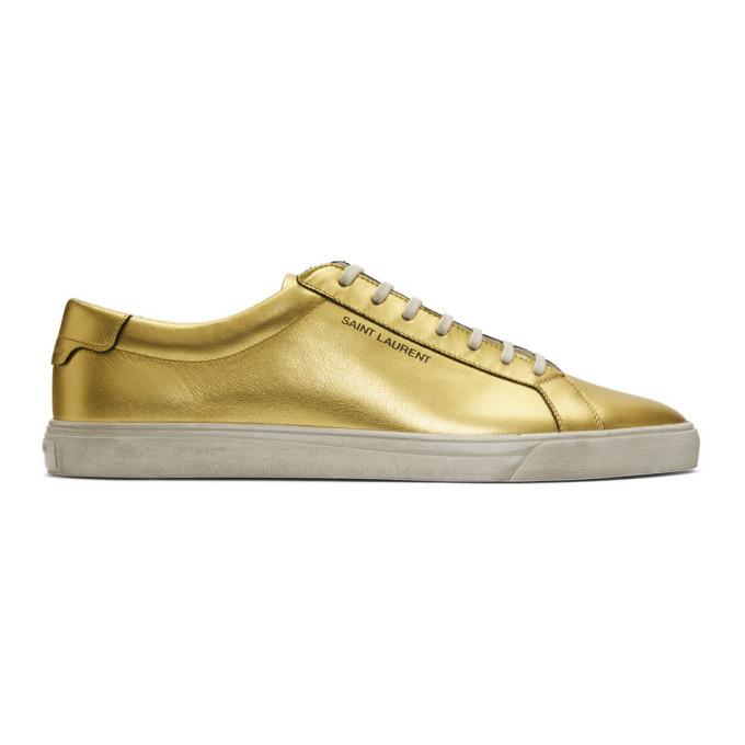 Saint Laurent Gold Andy Sneakers