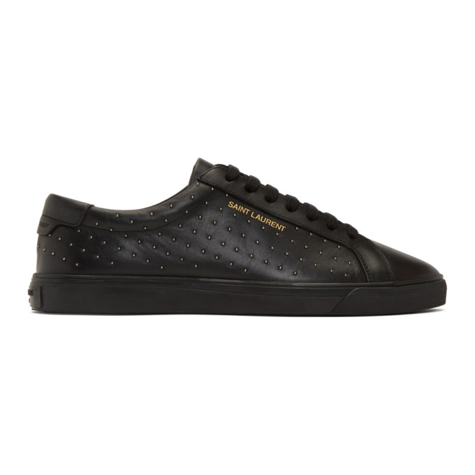 Saint Laurent Black Studded Andy Sneakers