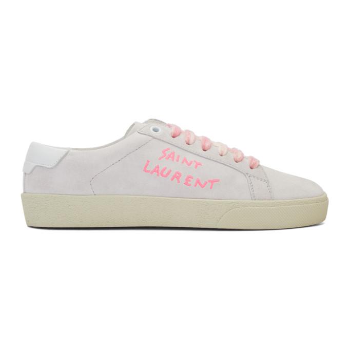 saint laurent pink shoes