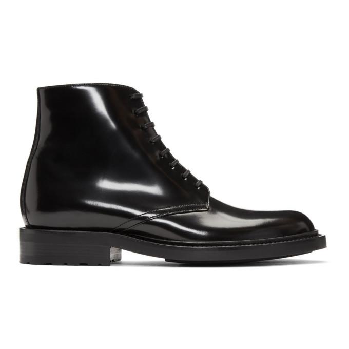 Saint Laurent Black Army Derby Boots