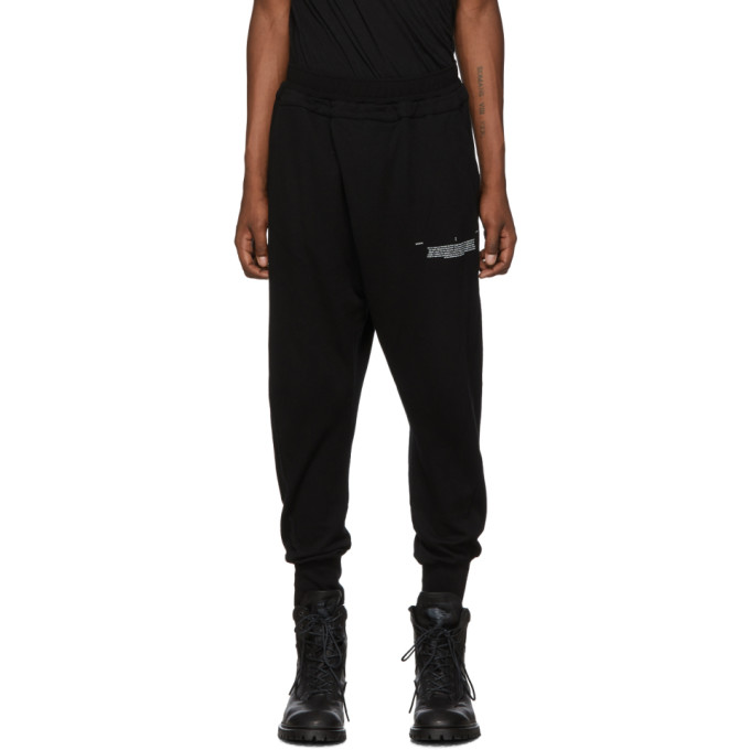 Julius Pantalon de survetement noir Tucked