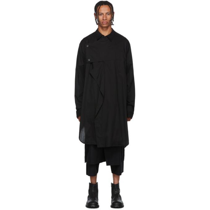 Julius T-shirt asymetrique a manches longues noir