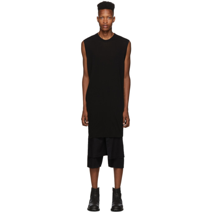 Julius Debardeur noir Draping No Sleeve