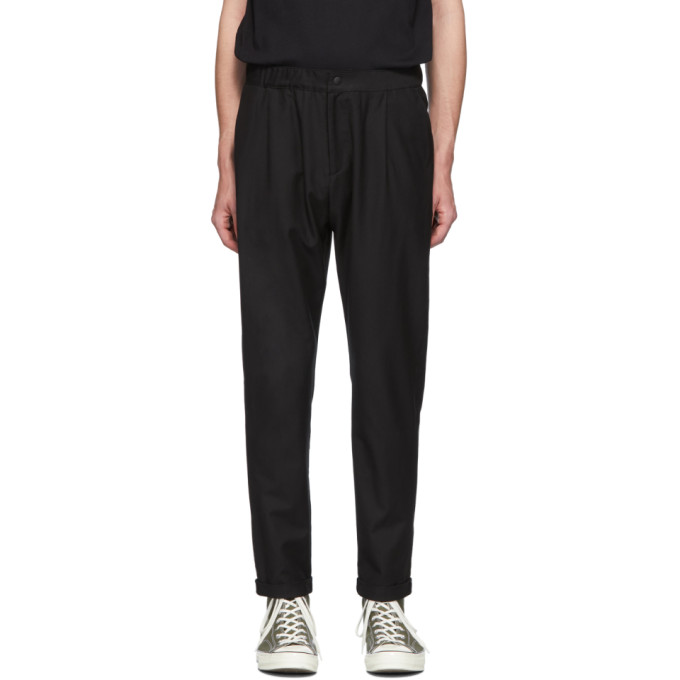PS PAUL SMITH | PS By Paul Smith Black Wool Elastic Waist Trousers | Goxip