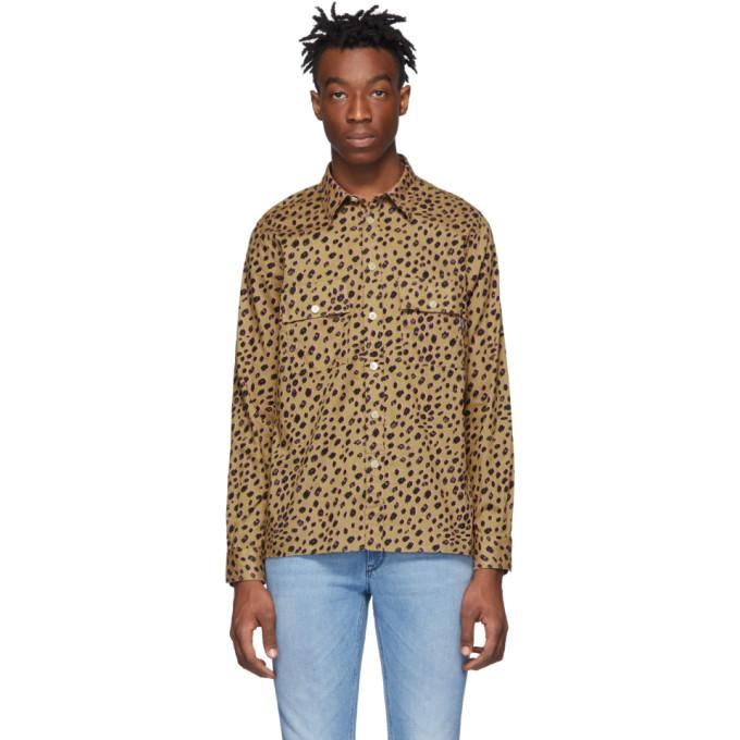 PS PAUL SMITH | PS By Paul Smith Tan Cheetah Shirt | Goxip
