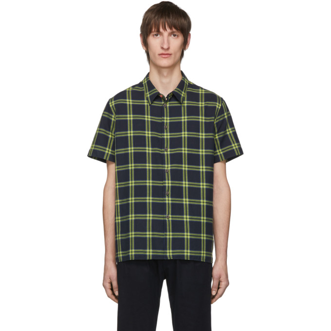 PS PAUL SMITH | PS By Paul Smith Black Check Regular Fit Short Sleeve Shirt | Goxip