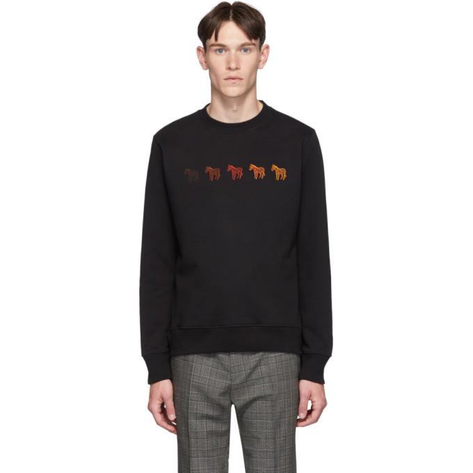 PS PAUL SMITH | PS By Paul Smith Black Zebras Regular Fit Sweatshirt | Goxip
