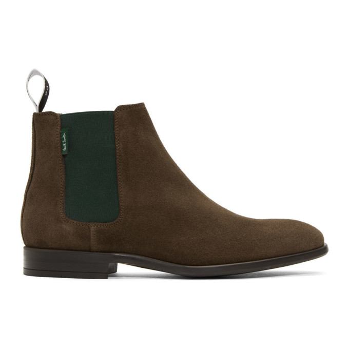 PS by Paul Smith Brown and Green Gerald Chelsea Boots