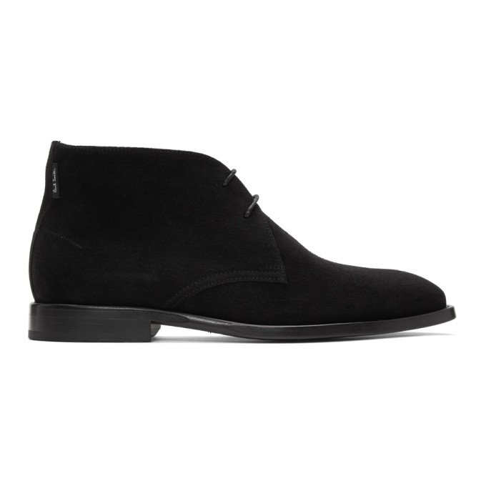PS by Paul Smith Black Suede Arni Desert Boots