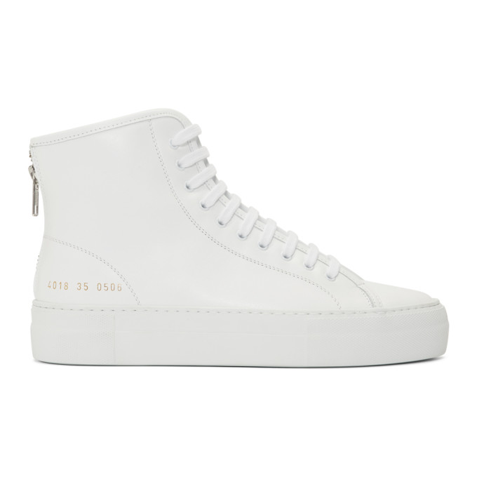 Woman by Common Projects White Tournament High Super Sneakers