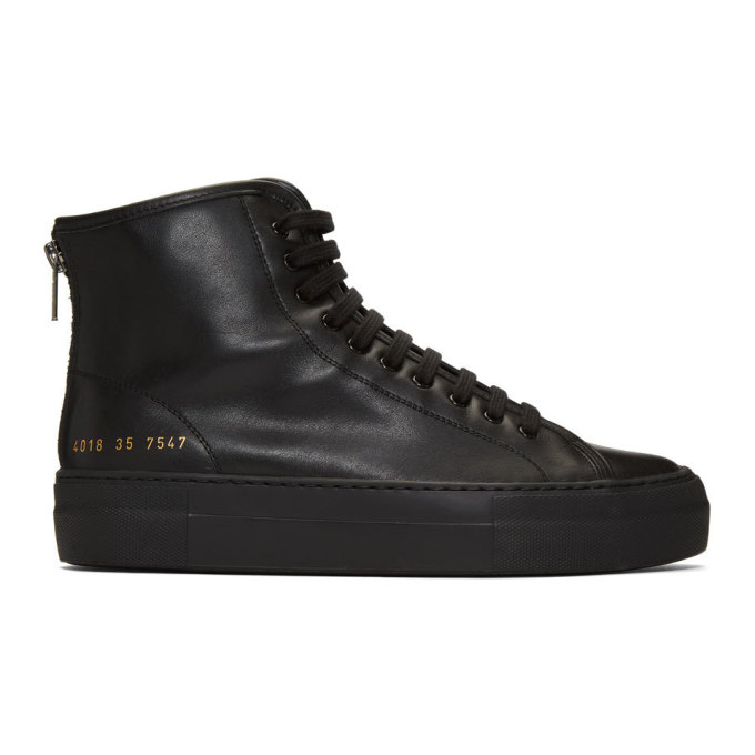 Woman by Common Projects Black Tournament High Super Sneakers