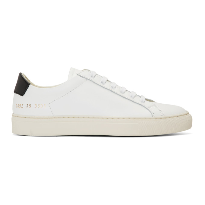 Woman by Common Projects White and Black Original Achilles Low Sneakers