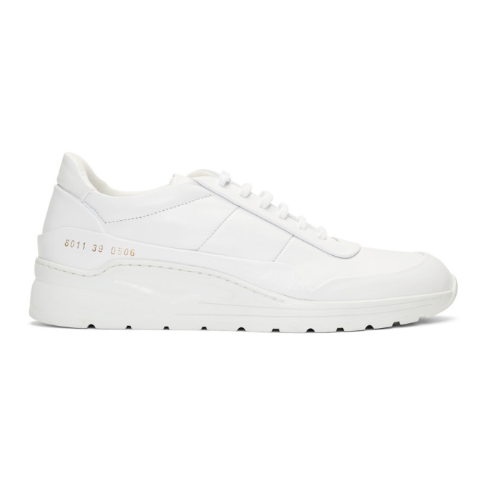 Woman by Common Projects White Cross Trainer Sneakers