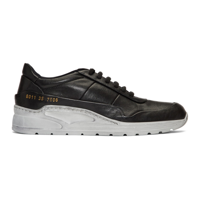 Woman by Common Projects Black Cross Trainer Sneakers